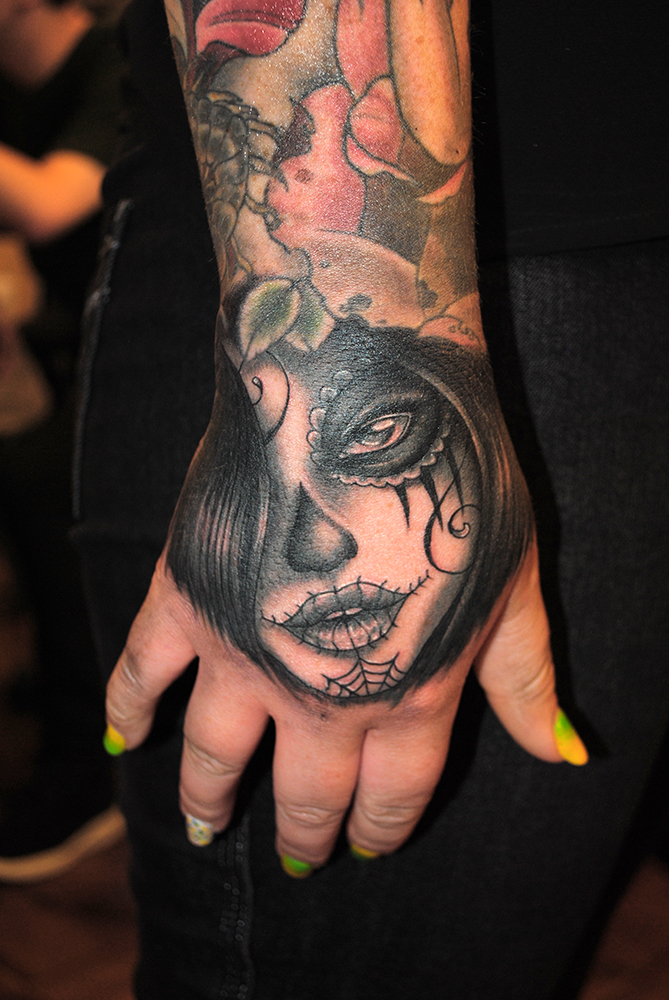 Day of the Dead Lady Hand Tattoo